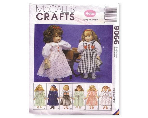 McCalls Crafts 9066 Sewing Pattern Clothes for 18 by CrabandCrow