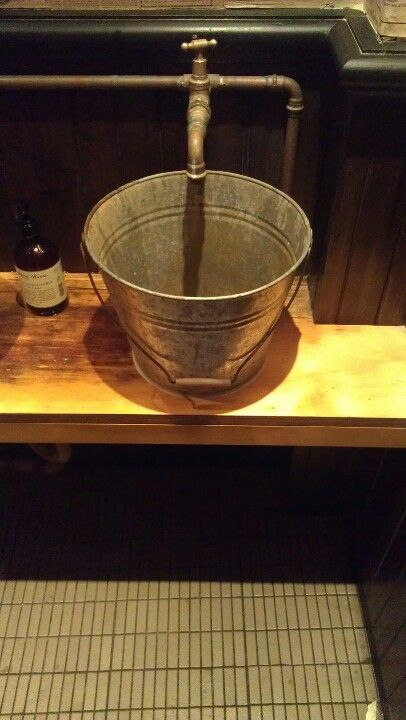 This came from Ms G restaurant in Sydney. It was their basin in the toilet. Love it!