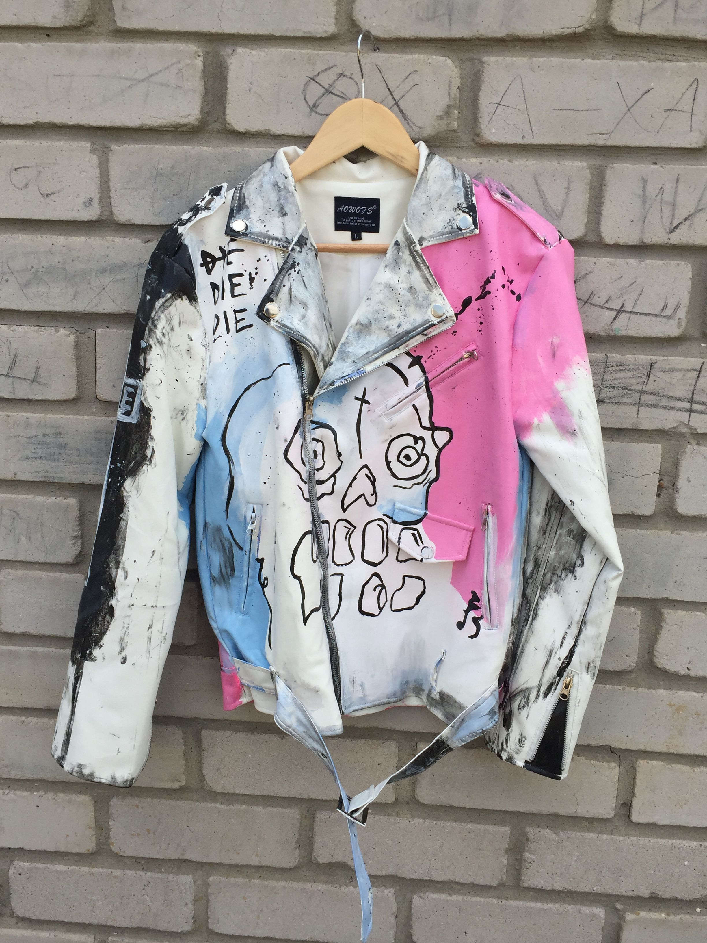 Leather Jacket Never Sad Die Memory of Lil Peep
