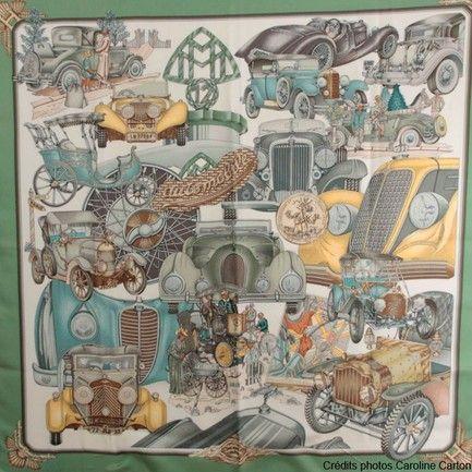 Hermès carré 90 cm Automobile