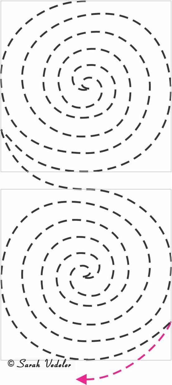 Learn to create beautiful FMQ Spirals with this tutorial