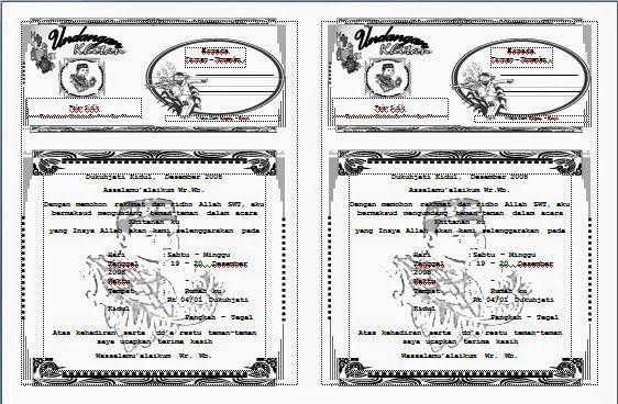 Download Undangan Gratis Desain Undangan Pernikahan Khitan
