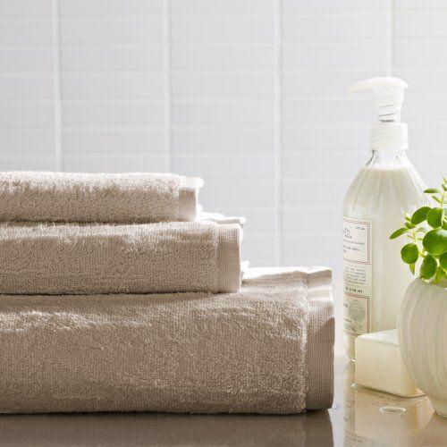 Portico Organic Cotton Slub Bath Towel In Birch Cotton Bath