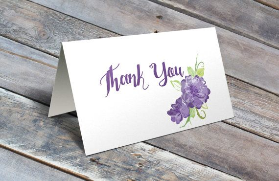 Purple Peony Thank You Notecard https://www.etsy.com/listing/292293299/country-chic-thank-you-note-purple