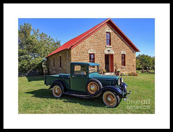 W E Barnes Apple Barn And 32 Ford Framed Print by Kevin ...
