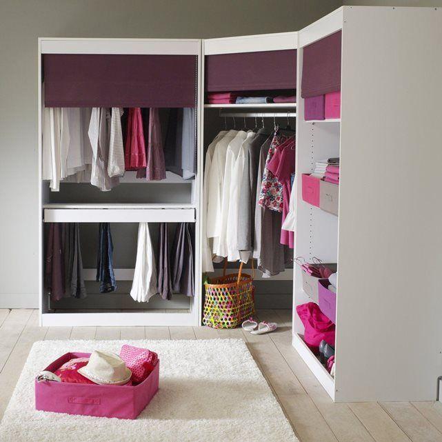 module dressing d 39 angle build penderie metal barre de penderie et positionner. Black Bedroom Furniture Sets. Home Design Ideas