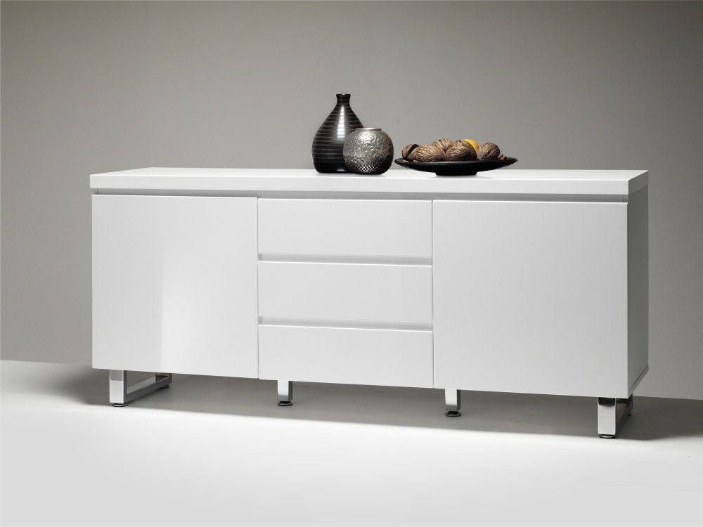 Wohnzimmer Sideboard in Hochglanz Weiß Grifflos Jetzt bestellen - sideboard für wohnzimmer