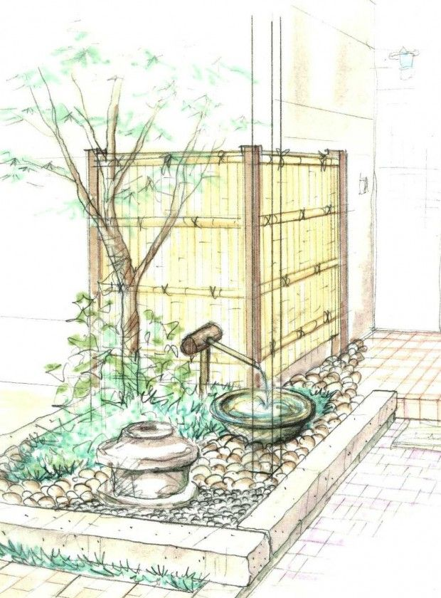 1 O邸 坪庭 竹の庭 禅庭 日本庭園