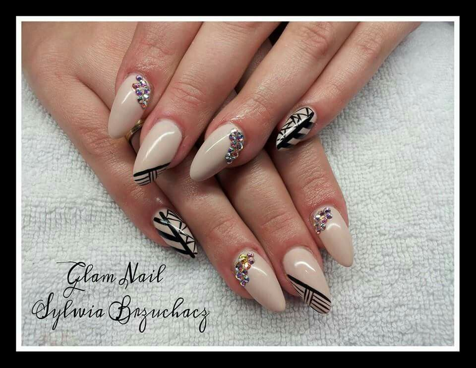 Spn uv laq 634 perfect beige and black devil paint gel nails by spn uv laq 634 perfect beige and black devil paint gel nails by prinsesfo Choice Image