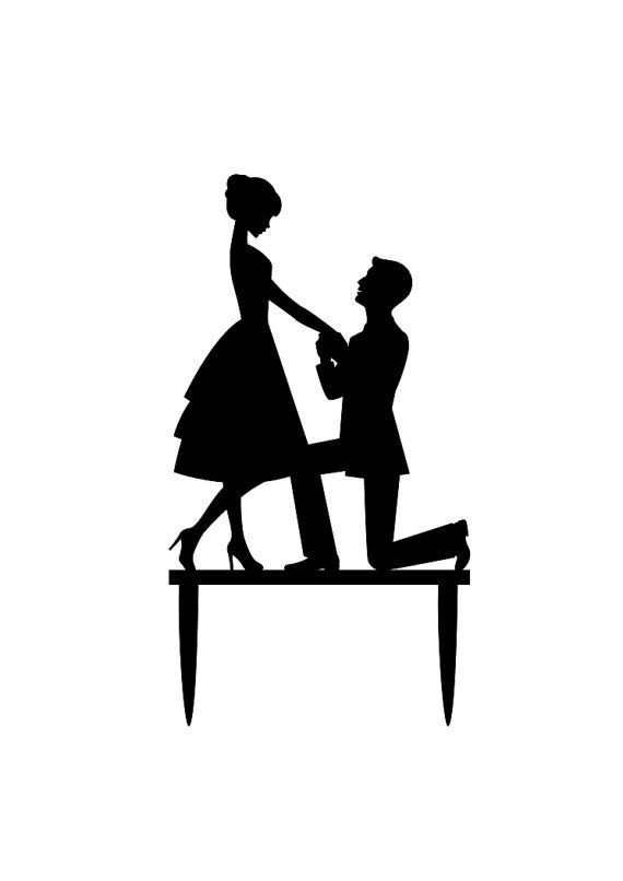 Bride and Groom Cake Topper Proposal Wedding Cake by ...