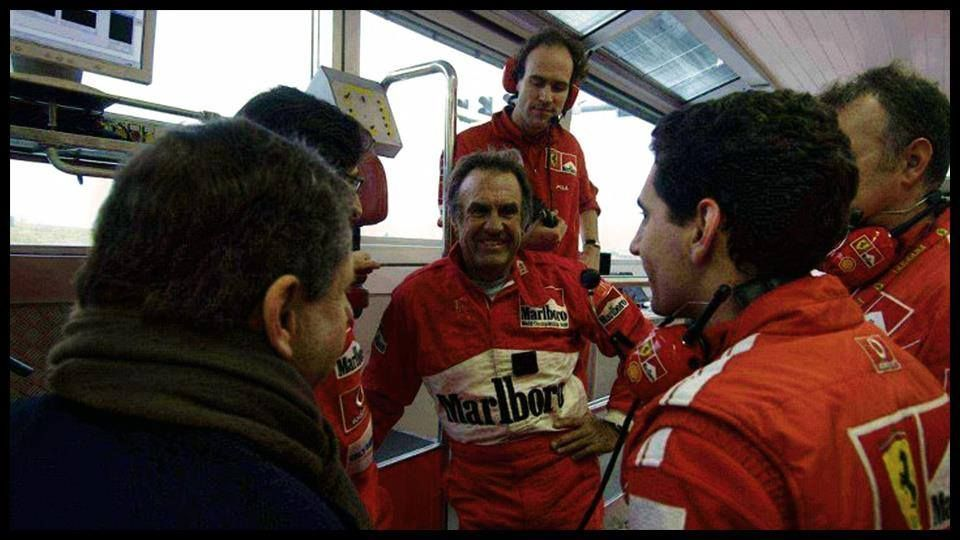año 2004 - Ferrari lo invita a probar el auto de Schumy