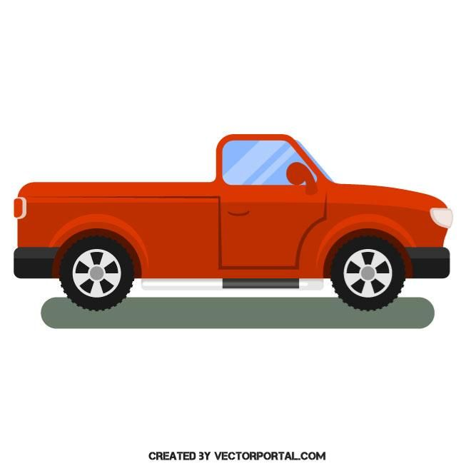 Red Pickup Truck Vector Image Pickup Trucks Vector Images Free
