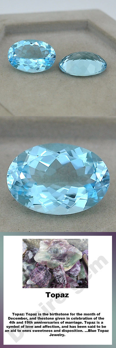Topaz 10270: 21.10 Ct Natural Blue Topaz Oval Fine Cut 12X16 Mm Loose Gemstone Pair Lsy1137 BUY IT NOW ONLY: $34.44