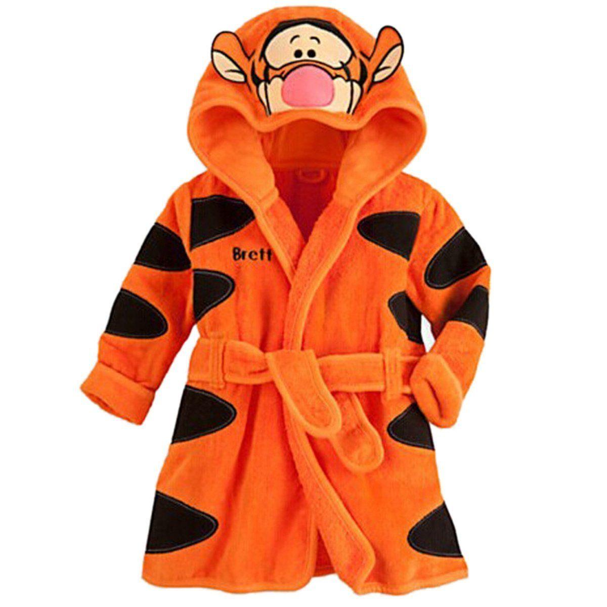 Baby Kinder Bademantel Kapuze Bathrobe Fleece Warm Nachtwäsche Pajamas Sleepwear