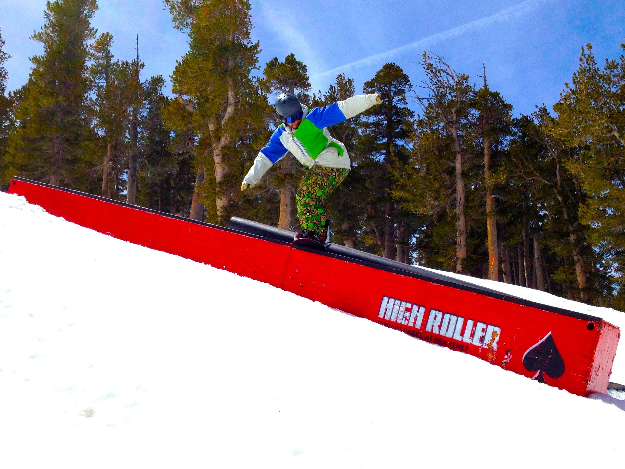 Great Rail Shot Taken At High Roller Terrain Park At Heavenly Ski Resort During Our Ski Vacation Www Arctivity Com With Images Heavenly Resort Ski Resort Resort
