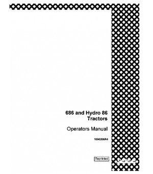 CASE IH 686 GEAR DRIVE HYDRO 86 TRACTOR OPERATORS MANUAL