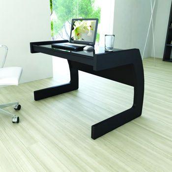 Astounding Midnight Black Computer Desk With Glass Top Costco 219 Interior Design Ideas Truasarkarijobsexamcom