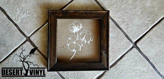 Cotton burlap sign/ Reverse Canvas/ Cotton Anniversary gift #pictureplacemeant