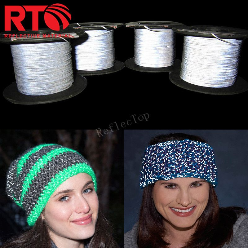 Reflective Yarn Application For Hat, Clothing ,Shoes