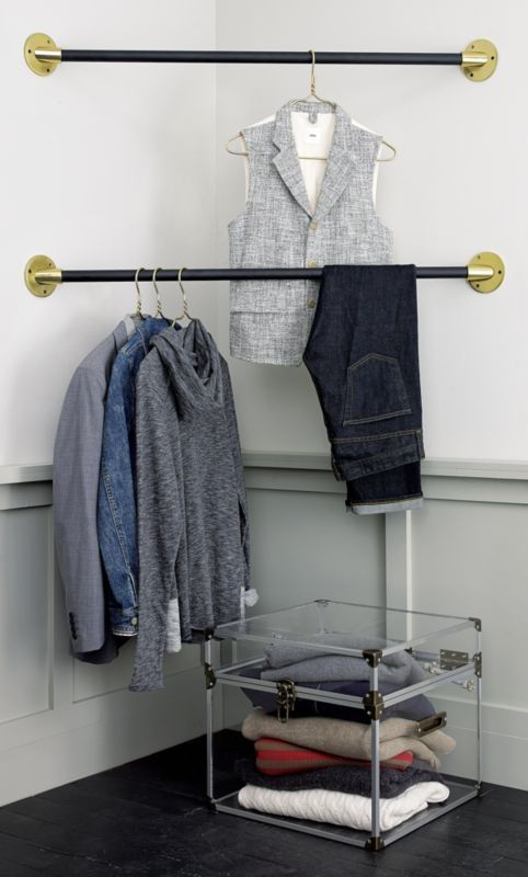 Mod Locker Cb2 Hanging Bar Home Decor Sale Hanging Clothes