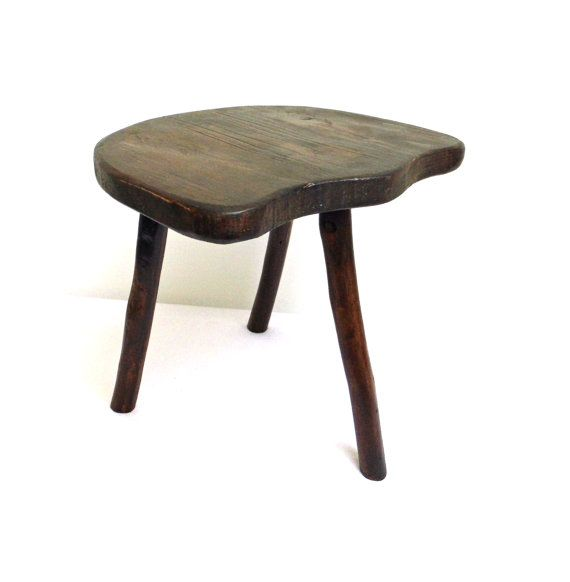 Farmhouse Milking Foot Step Stool Three Legged Rustic Primitive like