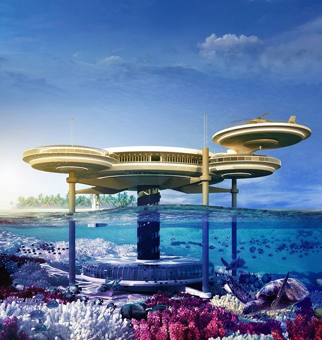 Underwater Hotel planned for Dubai by Motiv Studio. More on @Design.Only Tag someone you'd stay here with  •#Arc_Only