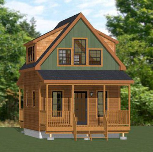 16x20 Tiny House -- 574 Sq Ft -- PDF Floor Plan -- Model