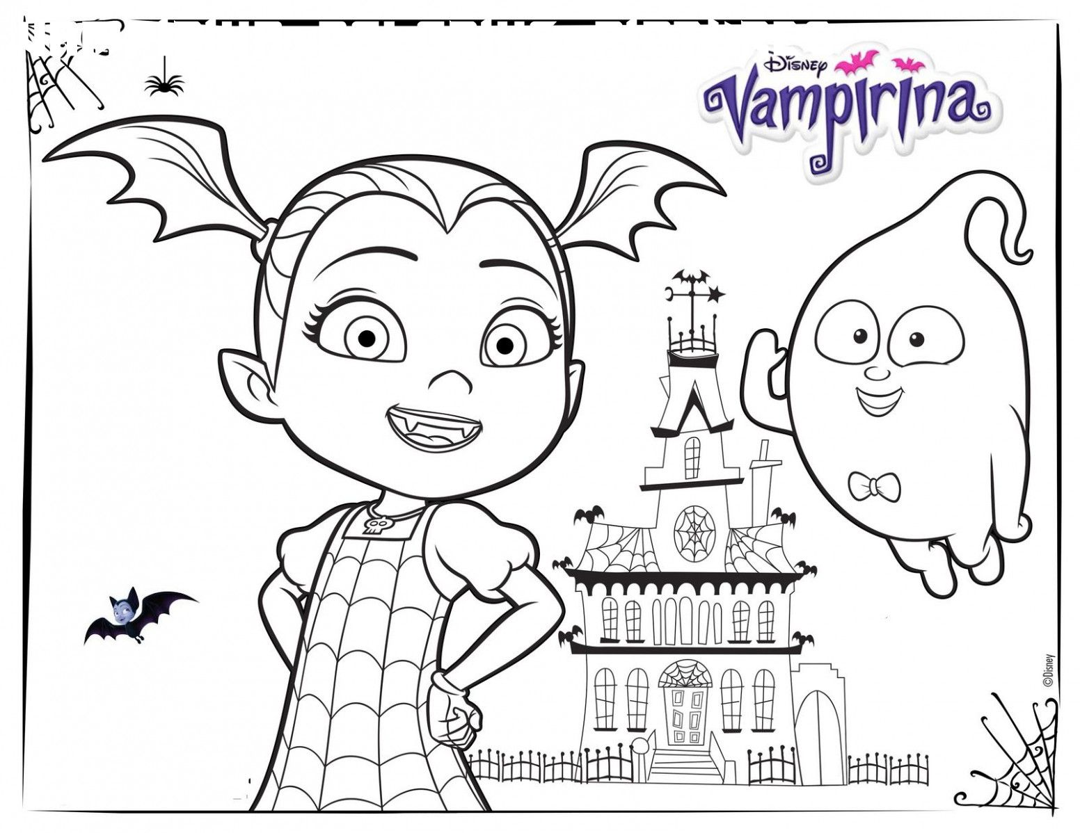 6 Vampirina Coloring Pictures In 2020 Disney Coloring Pages Halloween Coloring Pages Halloween Coloring