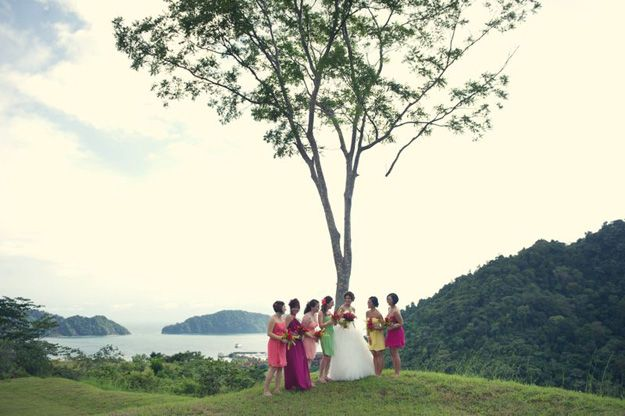 Costa Rica Wedding  Photography- Carla Ten Eyck  Gown- Modern Trousseau, The White Dress by the shore  Maids- Jenny Yoo