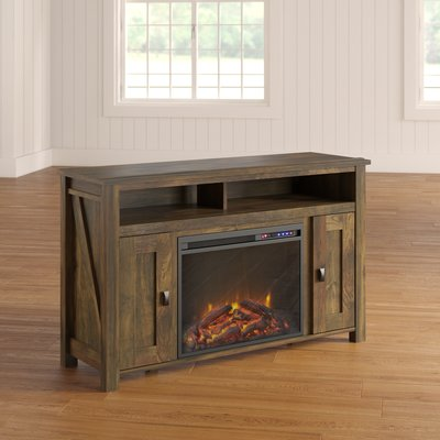 Mistana Whittier Tv Stand For Tvs Up To 50 With Electric Fireplace Included Colour Natural In 2020 Fireplace Tv Stand Best Electric Fireplace Electric Fireplace