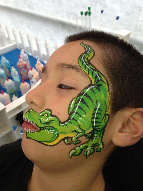 Dutch Bihary T Rex Bemalte Gesichter Kinderschminken