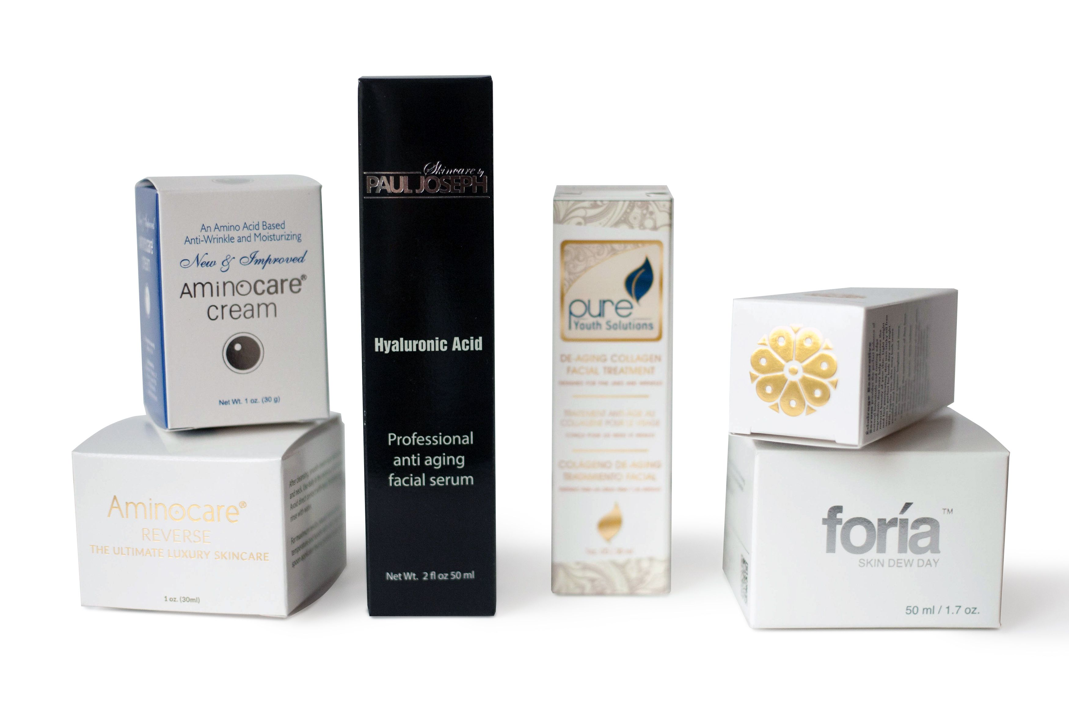 Custom Printed Folding Cartons For Cosmetic And Skincare