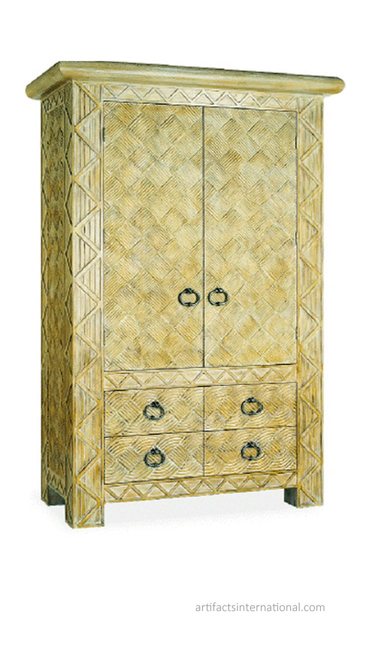 Kenya Armoire. Hand-carved and crafted. artifactsinternational.com ...