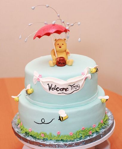 Perfect Cake For A Classic Pooh Baby Shower Cakes Winnie The