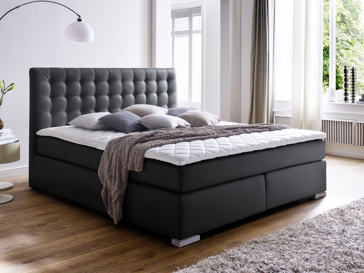 boxspringbett hotelbett premium isa schwarz 3 groessen lieferbar massive naturm bel how i. Black Bedroom Furniture Sets. Home Design Ideas