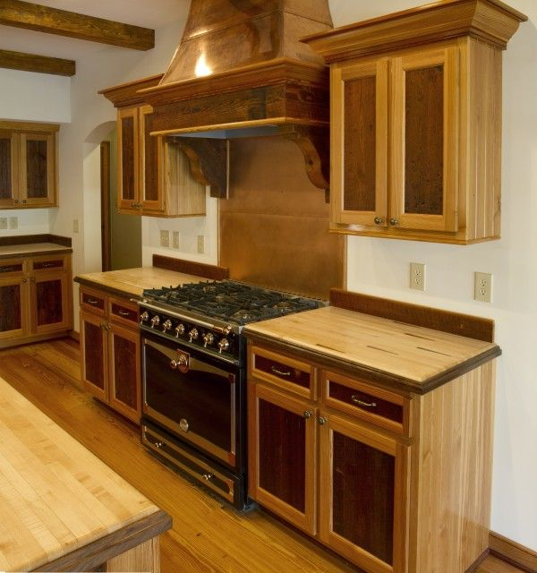 I Like The Two Tone Wood And Cabinet Design