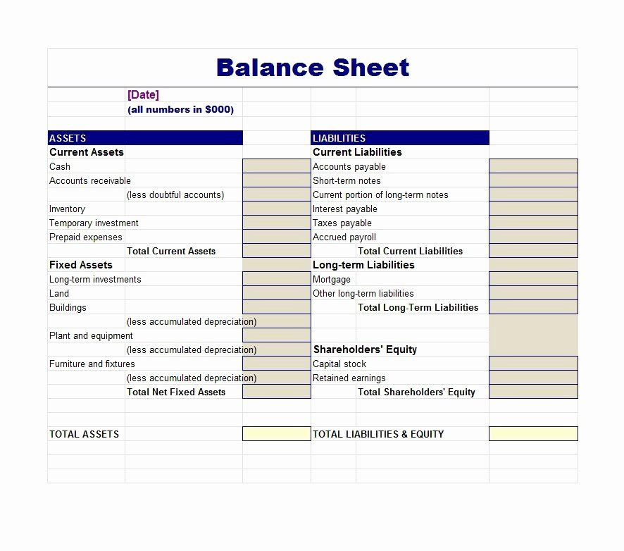 Checking account balance sheet template unique 38 free
