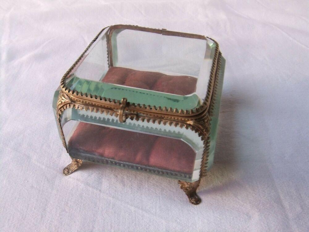 boite à bijoux en verre napoléon 3