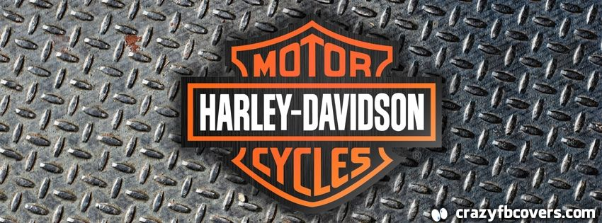 Harley Davidson Logo On Diamond Plate Facebook Cover Facebook Timeline Cover Photo Fb Cover Facebook Cover Cover Pics For Facebook Fb Timeline Cover