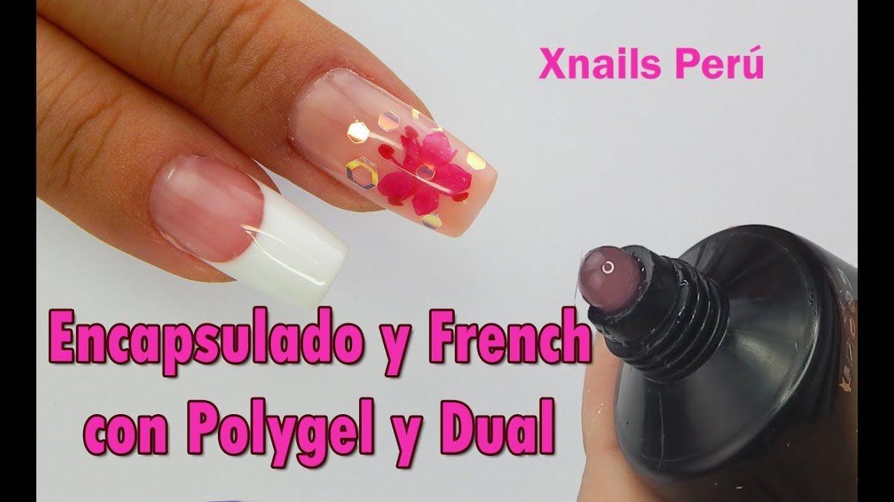 Uñas De Polygel Encapsulado Y French Con Moldes Dual Xnails Peru Moldes Para Uñas Uñas Encapsuladas Hacer Uñas De Gel
