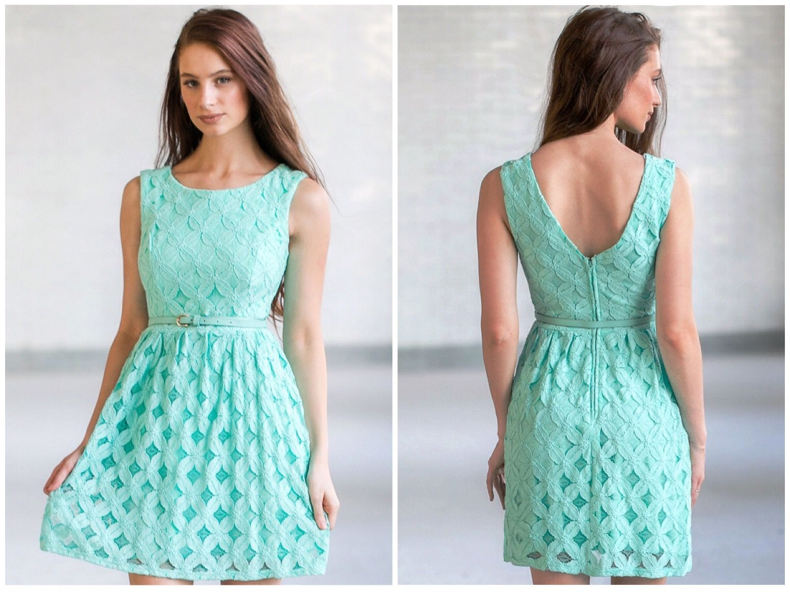 This aqua lace dress has a cute A-line cut! http://ss1.us/a/uHgQb5PM ...