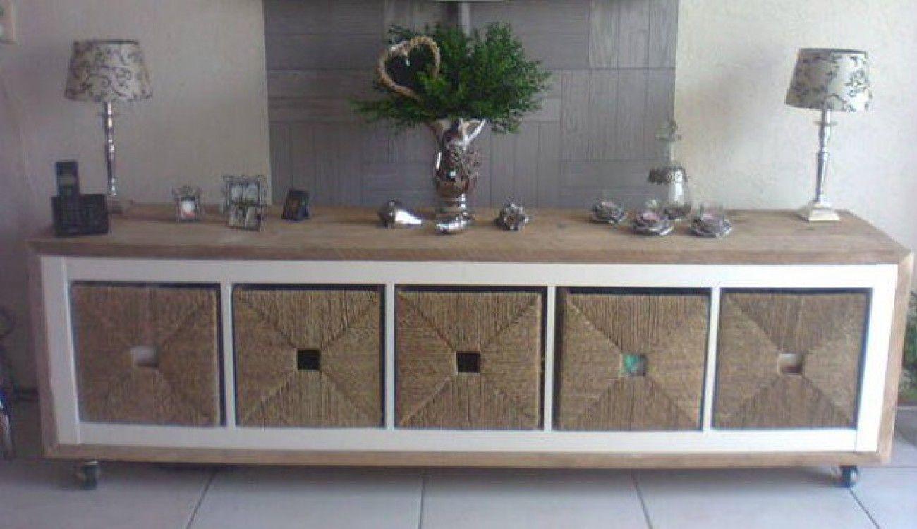 Kast Met Manden : Een ikea kast bekleden met steigerhout zwenkwielen eronder ikea