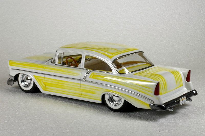 1/25th scale 56 Chevy Moderate custom by Kirby Hughes