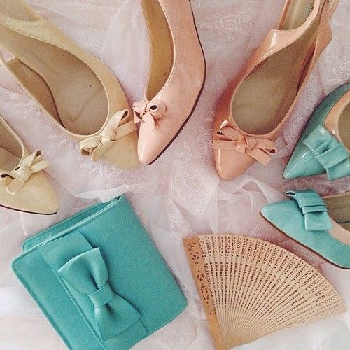 Obsessed with bows and pastels #pastels #shopaholic #pretty #Shoes #KittenHeels