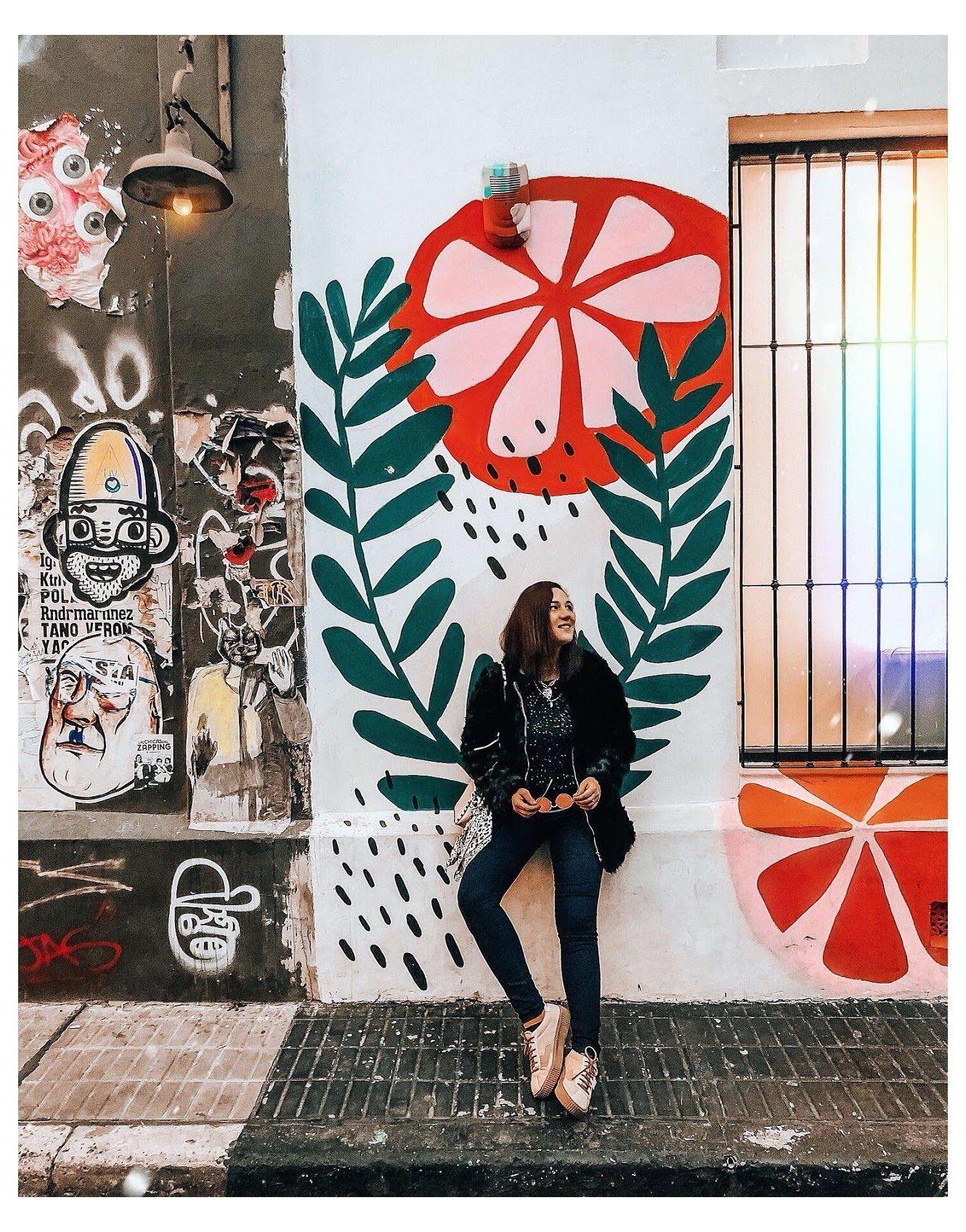 flower wall murals painted street art MURALES EN P