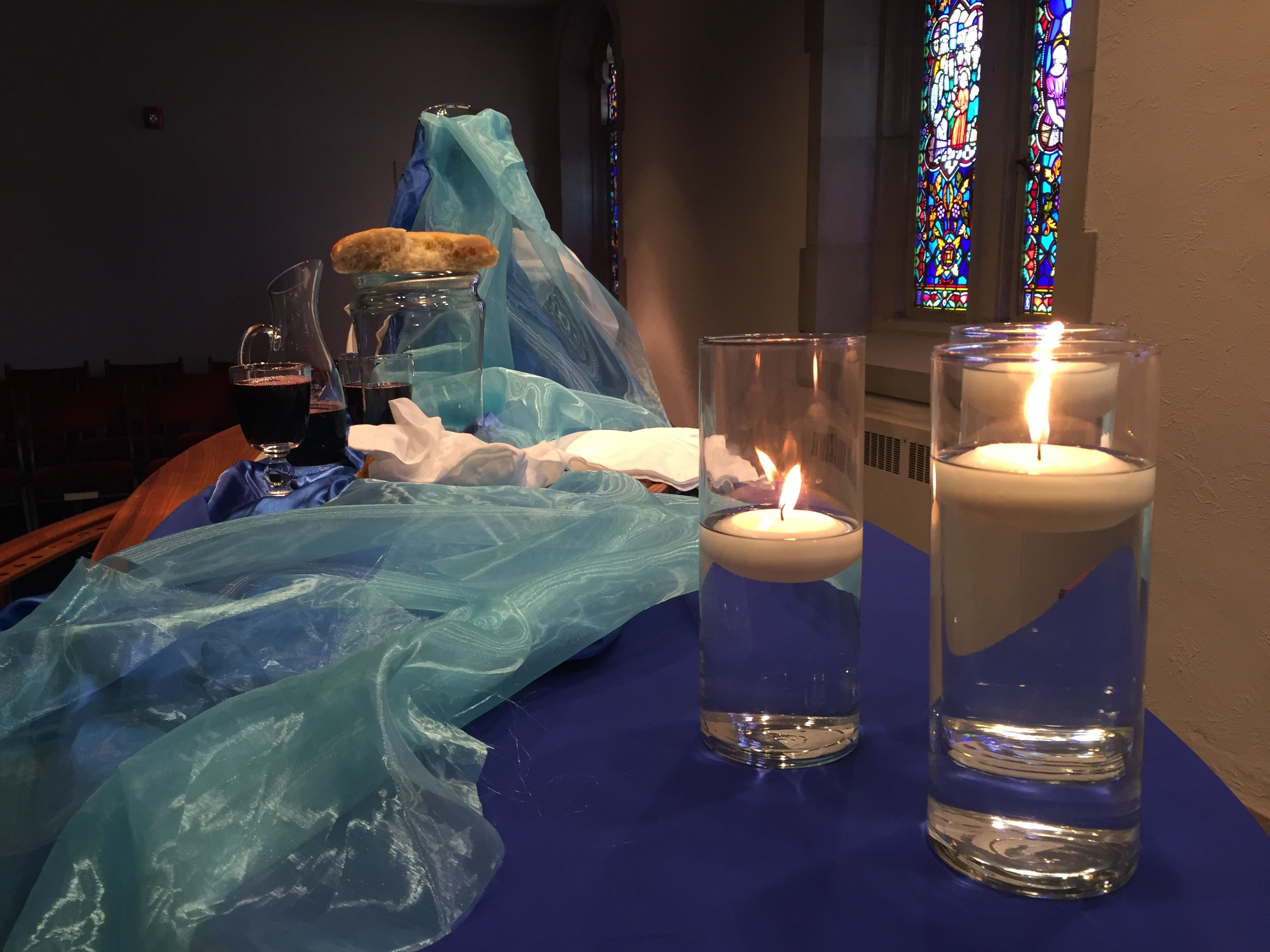 Used during a baptismal renewal service at Peoria First UMC