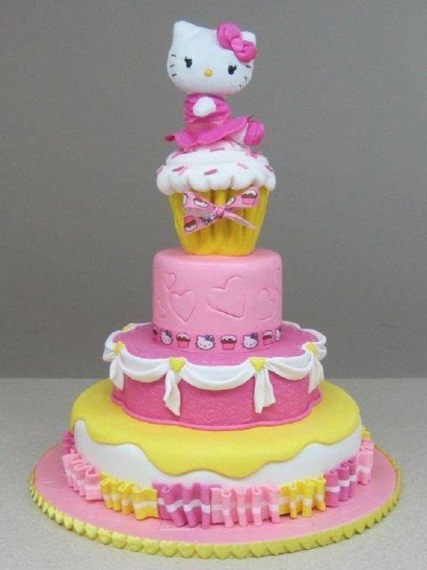 Strange Hello Kitty Hello Kitty Cake Cat Cake Cupcake Cakes Birthday Cards Printable Benkemecafe Filternl