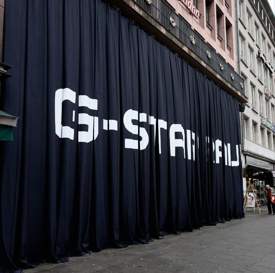 G-Star opening event curtain