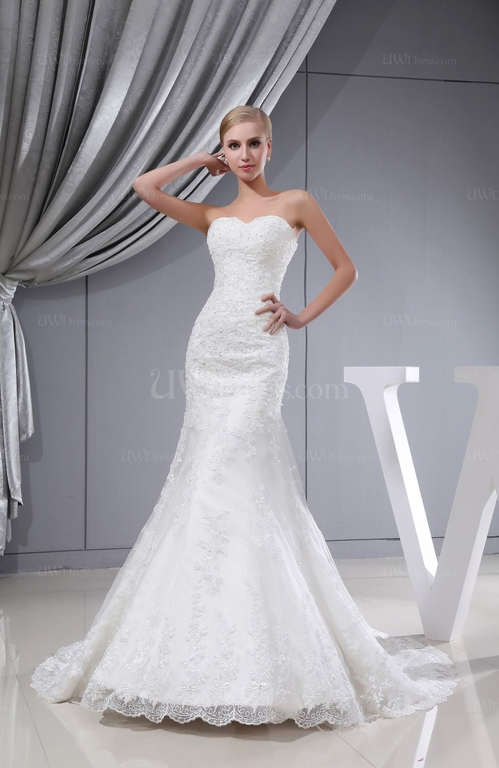 mermaid wedding gowns with cathedral trains Mermaid