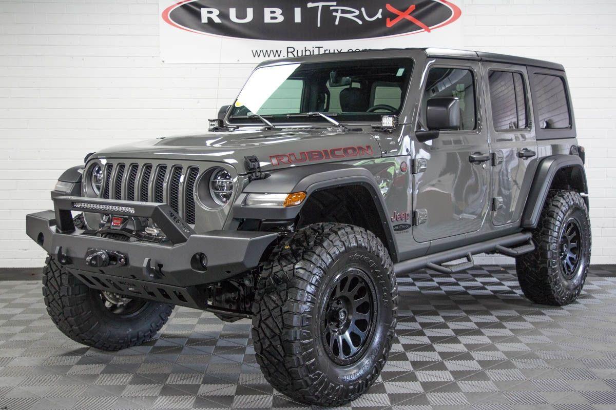 Sting Grey Jeep Wrangler Jlu Rubicon Lifted Tires Wrangler